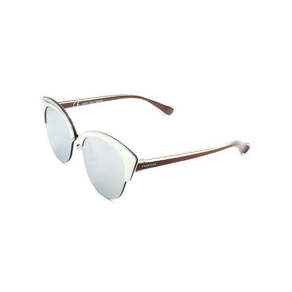 Óculos de Sol Prorider Multicolorido com lente Espelhada Prata - H01448C3