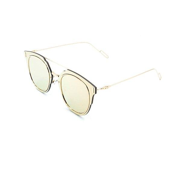 Óculos de Sol Prorider Ouro Rosê com Lente Espelhada Ouro Rosê - KD7034C2