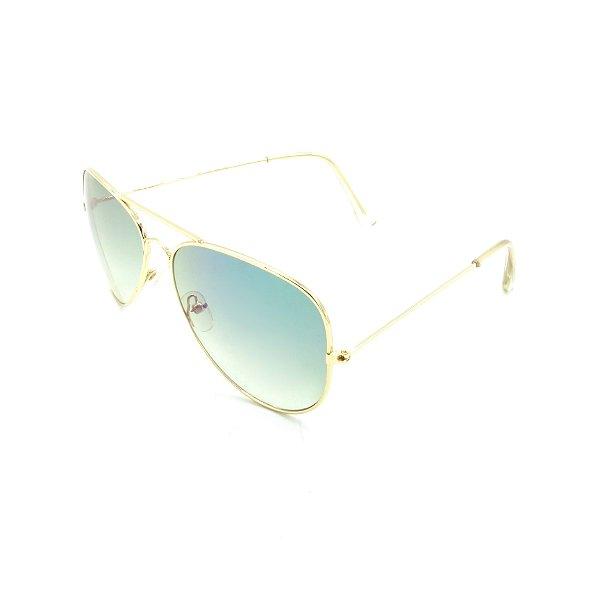 Óculos Solar Prorider Dourado Com Lente Degradê Azul - T3026C3