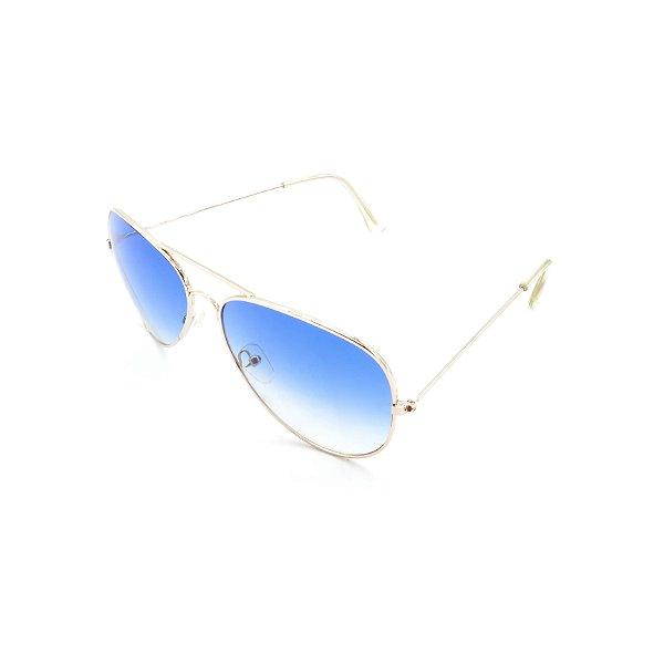 Óculos Solar Prorider Prata Com Lente Degradê Azul - T3026C4