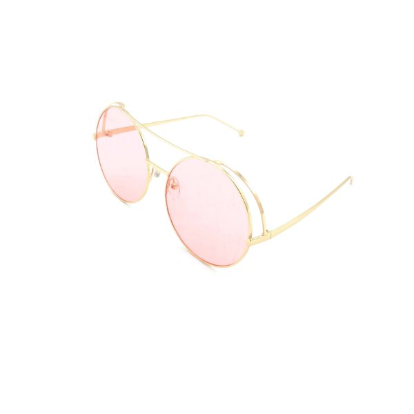 Óculos Solar Prorider Dourado Com Lente Fumê Rosa - T3026C5