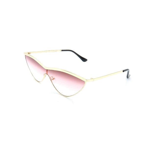 Óculos Solar Prorider Dourado Com Lente Degradê Rosa - 1860852