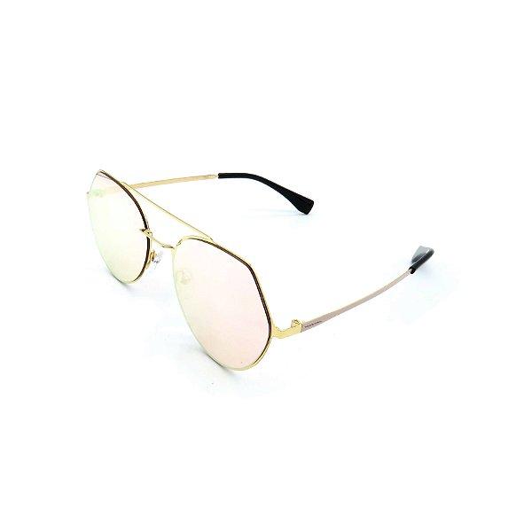 Óculos Solar Prorider Dourado Com Lente Espelhada Prata - T3026C6