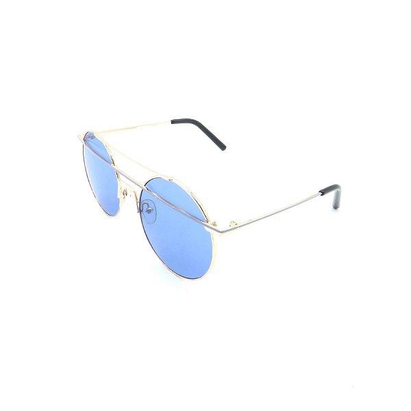 Óculos Solar Prorider Dourado Com Lente Espelhada Azul - T3026C7
