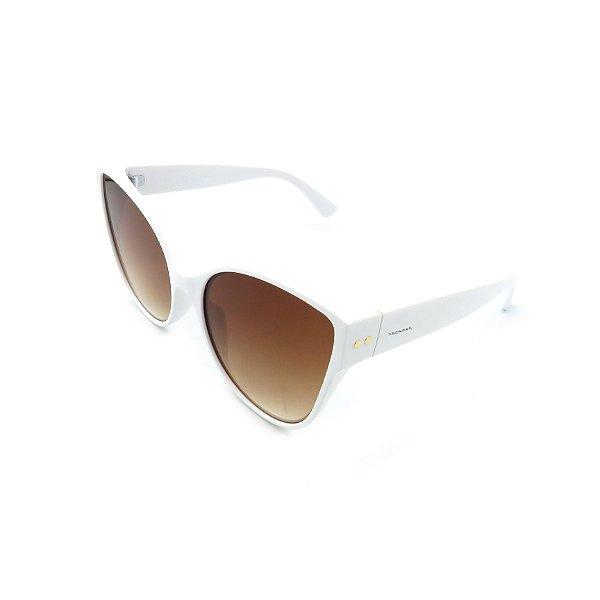 Óculos de Sol Prorider Retrô Branco com Lente Degradê Marrom - 705C2