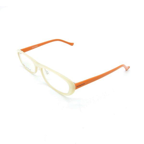 Óculos Receituário Prorider Retrô Branco e Laranja Com Lente de Apresentação - SX9001-54
