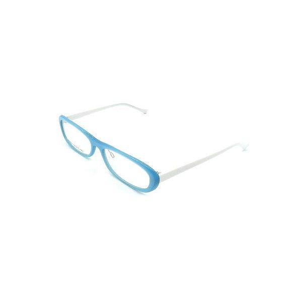 Óculos Receituário Prorider Retrô Azul e Branco Com Lente de Apresentação - SX9001-55