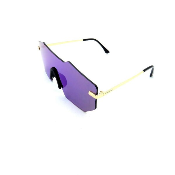 Óculos Solar Prorider Dourado Com Lente Espelhada Roxa - COL17118-13