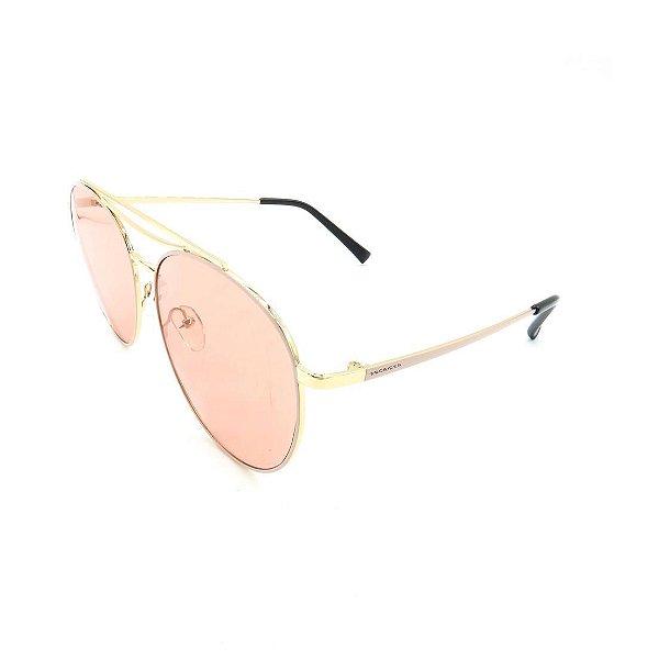 Óculos Solar Prorider Dourado e Rosê Com Lente Fumê Rosa - 27439-C5
