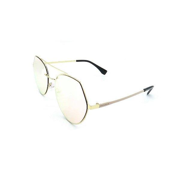 Óculos Solar Prorider Dourado e Rosê Com Lente Espelhada Rosê - 27435-C5