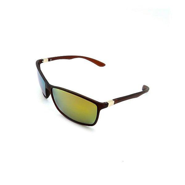 Óculos de Sol Prorider Marrom com Lente Espelhada Colorida - B2013-1064