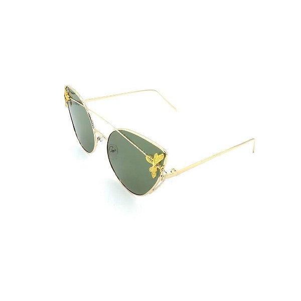 Óculos Solar Prorider Dourado Detalhado Com Lente Fumê Esverdeado - 7782-C2