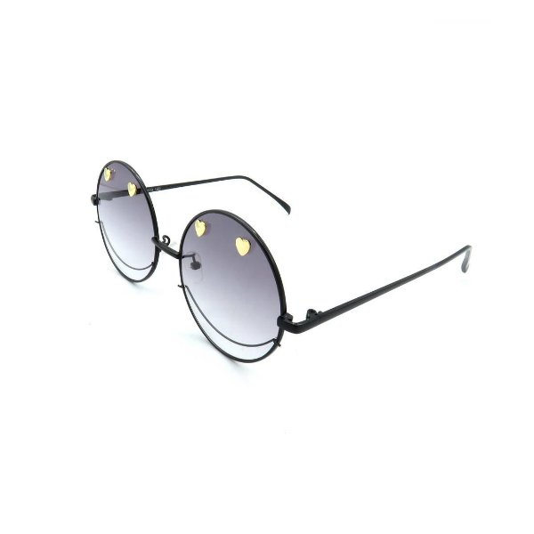 Óculos Solar Prorider Retrô Preto Com Lente Degradê Fumê - T007-54