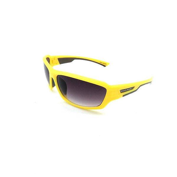 Óculos de Sol Prorider Retrô Amarelo com Lente Degradê Fumê - F0963-C9