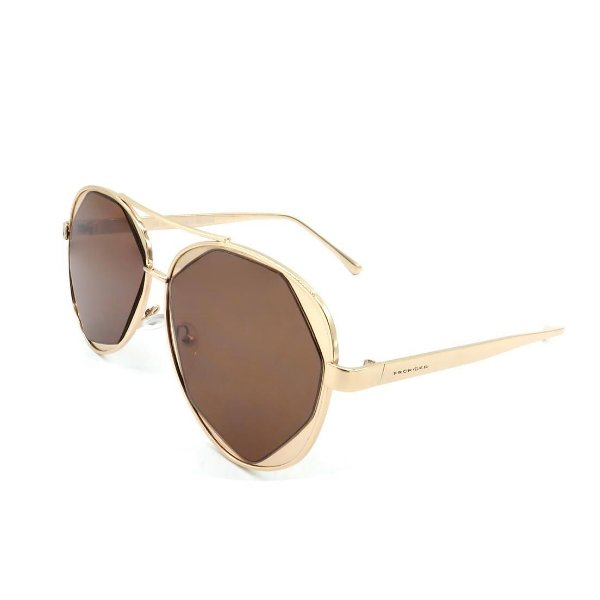 Óculos Solar Prorider Dourado Com Lente Fumê Marrom - H01748-C1