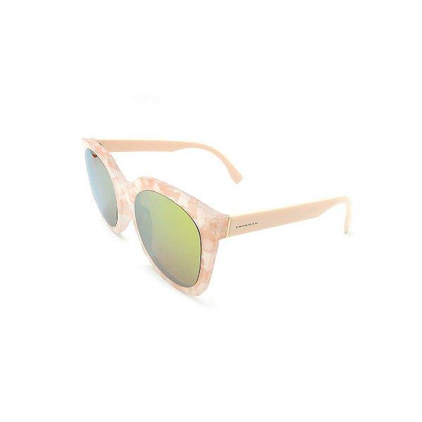 Óculos Solar Prorider Rosê Detalhado Com Lente Espelhada Amarela - B88-1367