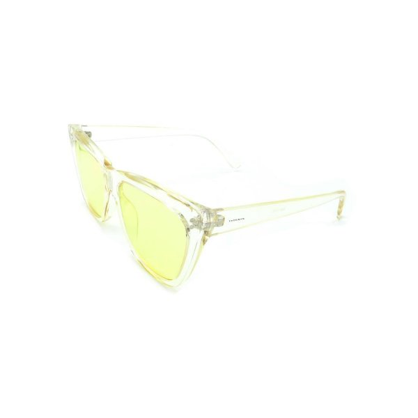 Óculos de Sol Prorider Transparente Com Lente Fumê Amarela -  B88-1406