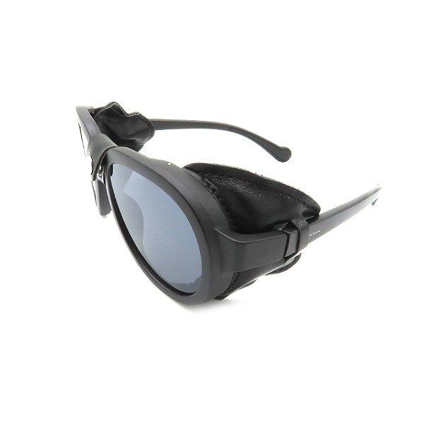 Óculos Solar Prorider Retrô Detalhado Preto com Lente Fumê - HP1837-C1