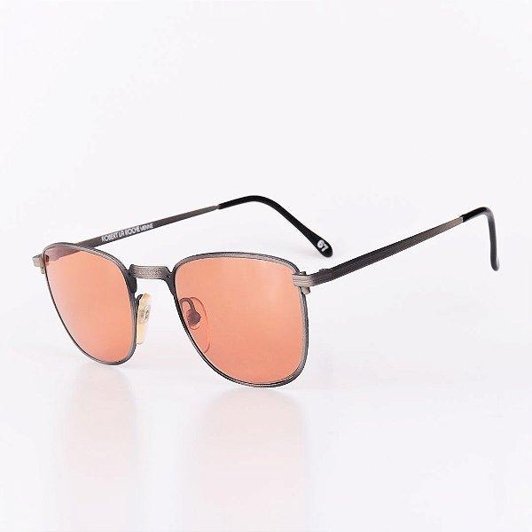 Óculos Solar Robert La Roche Vintage Prata Com Lente Laranja - 67C1