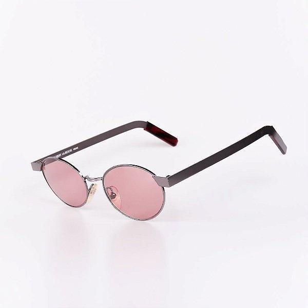 Óculos Solar Robert La Roche Vintage Prata Com Lentes Rosa - 105M63C2