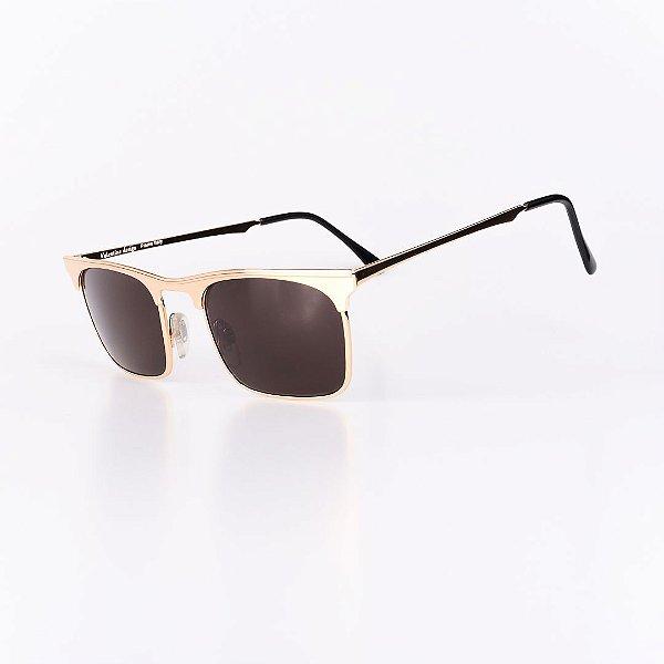 Óculos Solar Robert La Roche Vintage Dourado com lente Marrom - EUROPA64C1
