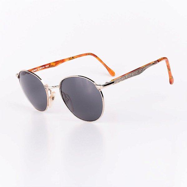 Óculos Solar Robert La Roche Vintage Prata e Laranja Mesclado com Lentes Fumê - CA135C2