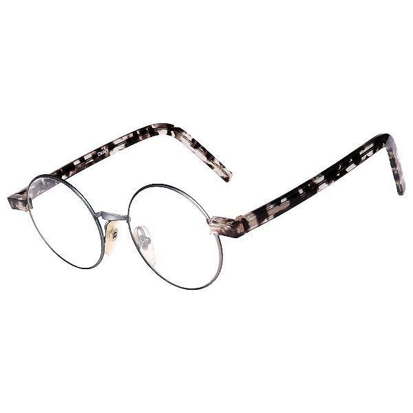 Óculos Receituário Robert La Roche Vintage  Prata, Preto e Branco Mesclado com Lentes de Apresentação - OKAPIC1