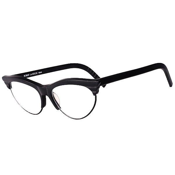 Óculos Receituário Robert La Roche Vintage Preto com Lentes de Apresentação - MOD338C2