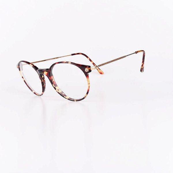 Óculos Receituário Robert La Roche Vintage Marrom Mesclado com Lentes de Apresentação - UNIVERSITYC1