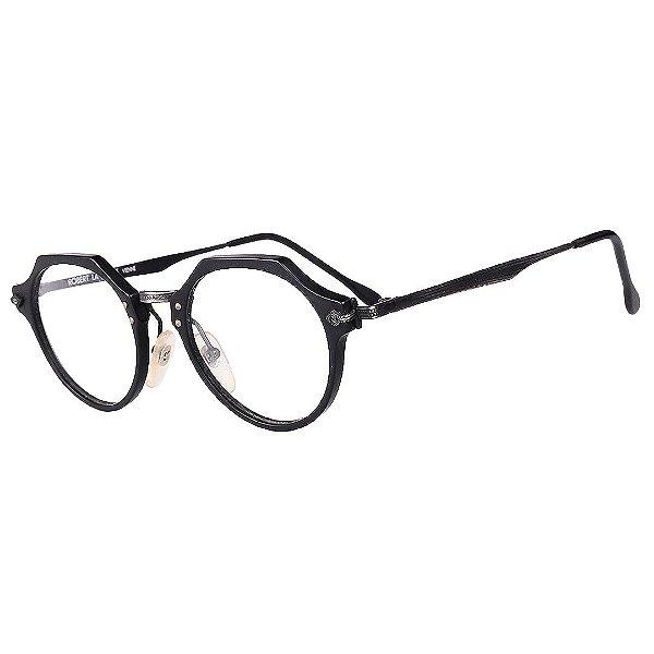 Óculos Receituário Robert La Roche Vintage Preto com Lentes de Apresentação - MOD189C1