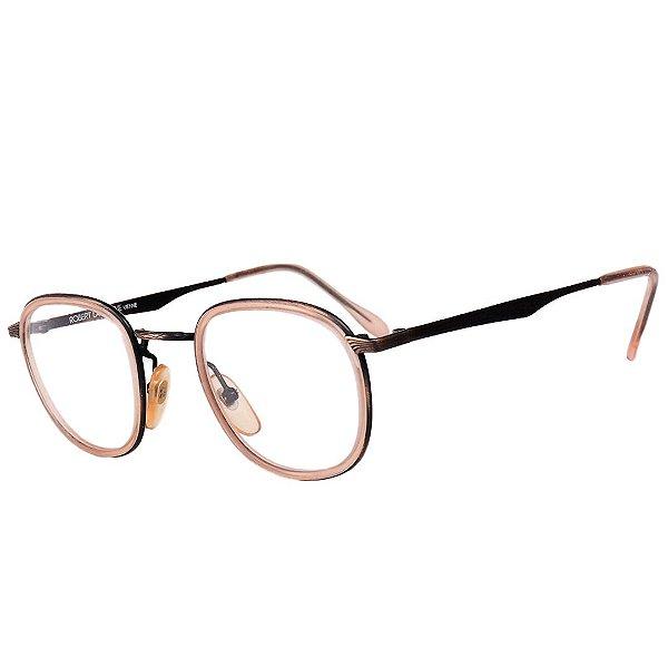 Óculos Receituário Robert La Roche Vintage Preto e Dourado com Lentes de Apresentação - CA12C1