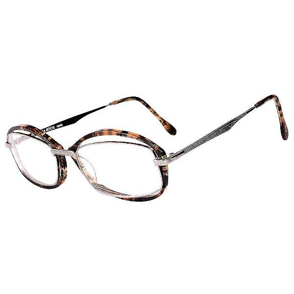 Óculos Receituário Robert La Roche Vintage Prata e Marrom Mesclado com Lentes de Apresentação - CA125C2