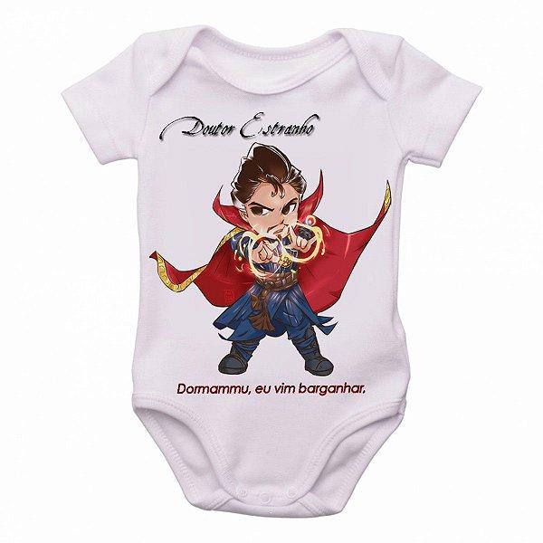 Body Bebê Roupa Infantil Criança Mini Doutor Estranho