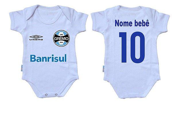 Body Bebê Roupa Infantil Criança Nenê Grêmio time futebol