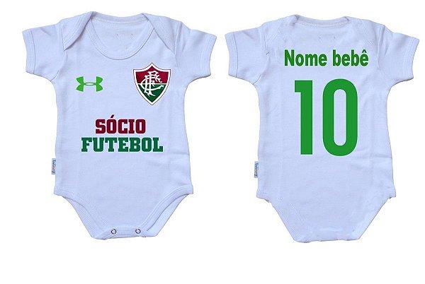 Body Bebê Roupa Infantil Criança Nenê Fluminense tim futebol