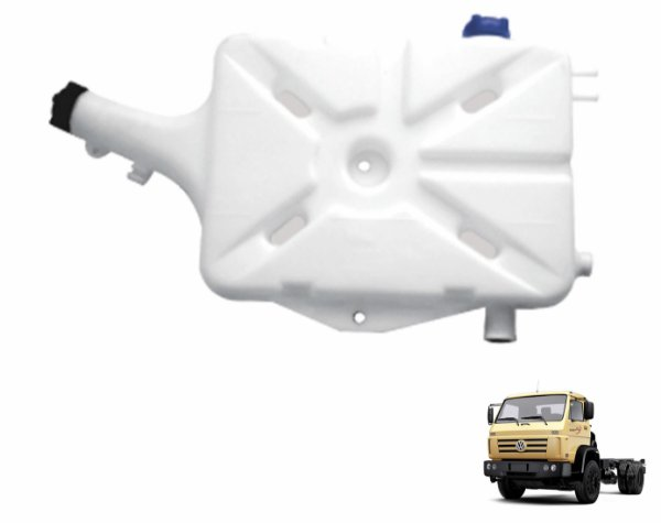 Reservatório Água Radiador C/ Tampa de Rosca Caminhão VW Worker a partir de 2000 12140 17220 23220 18310 15180 2S0121405C