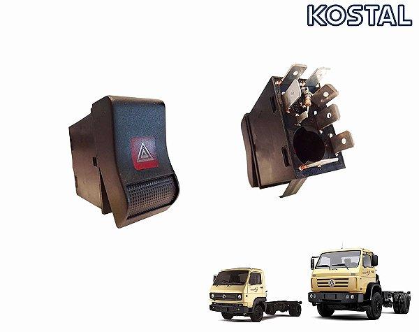 Botão Luz Emergência Pisca Alerta 24V Caminhão VW Worker 18310 26260e 24250e 15170e 8150e 9150e Cummins - 2Z0953235
