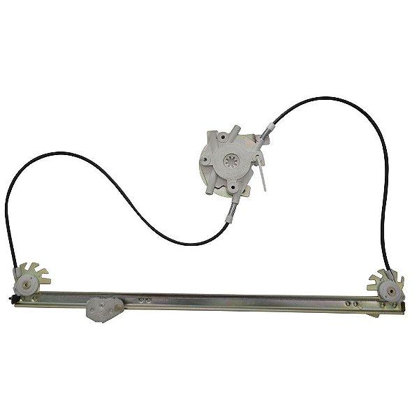 Máquina Vidro Elétrica Porta Dianteira - LD Passageiro s/ Motor - Iveco Daily GI de 1997 à 2007 - Fixação Mabuchi