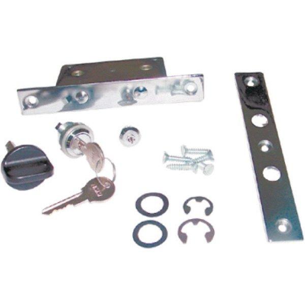 Kit de fechadura da porta s/ puxador - Porta do sanitário - Preto AM - MB Ônibus