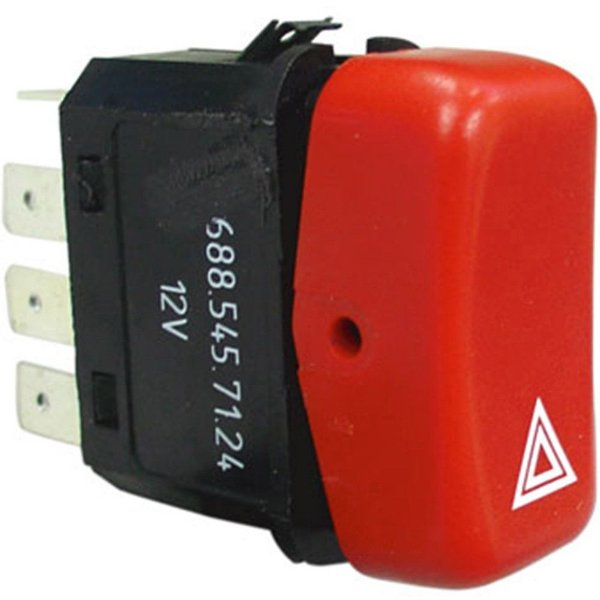 Botão Interruptor Luz Emergência - 12V - MB Caminhões Ônibus