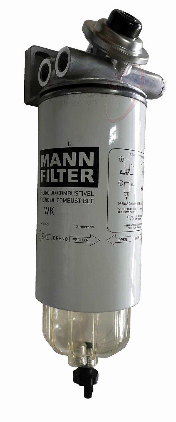 Kit Adaptação Cabeçote Filtro Separador Água Racor c/ Bomba S/ Esfera Rosca C/ Filtro S/ Sensor