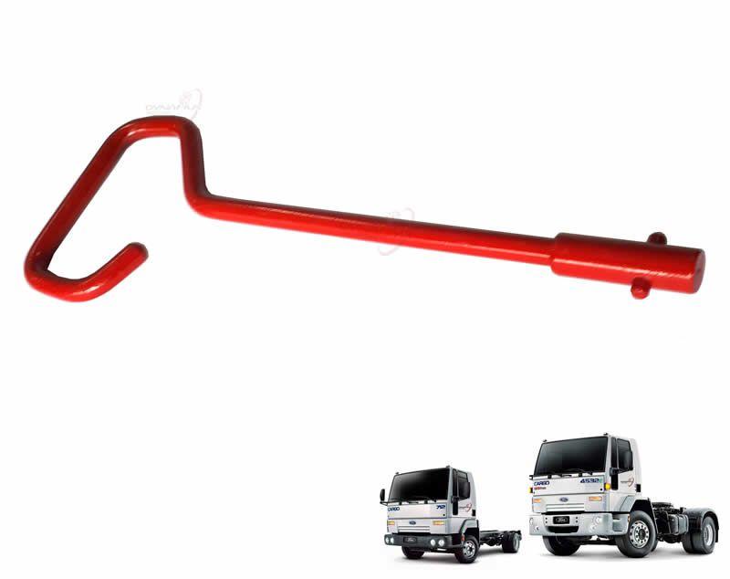 Chave Puxador Destrava Cabine Vermelha Ford Cargo