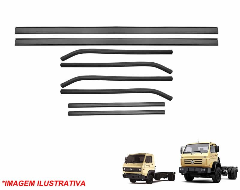 Jogo Canaleta e Pestana Caminhão VW Worker 790 11130 13130 14210 14150 15180 18320