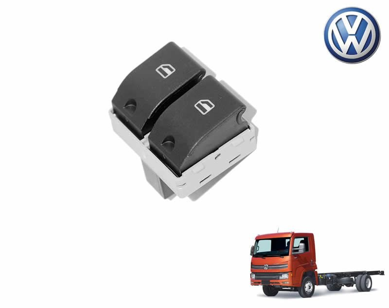 Botão Tecla Acionadora Levantar Vidro Elétrico Duplo - LE Motorista - VW Delivery Express 6160 9170 11180