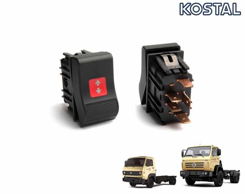 Botão Interruptor RPM Controle Rotação 24V Caminhão VW Worker 8150e 9150e Cummins 24250e 17150e 15170e 13170e 26260e 31260e 2R0941563