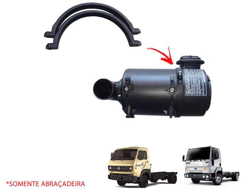 Abraçadeira Caixa Carcaça Filtro Ar Caminhão VW e Ford Cargo 8140 8120 8150 8160 815 814 712 816 Delivery