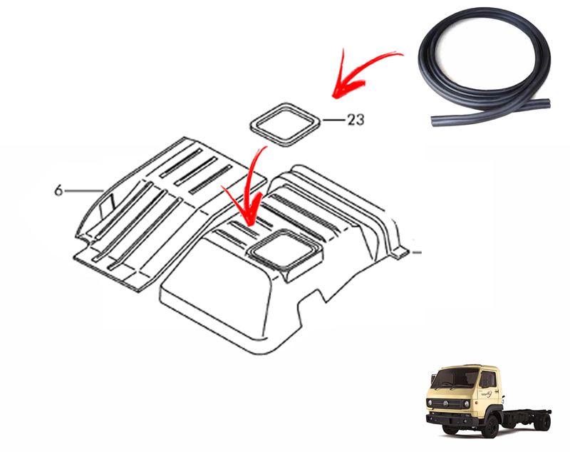 Borracha Vedação Guarda Pó Coifa Alavanca Cambio no Assoalho - Caminhão VW e Ford Cargo TAC867385