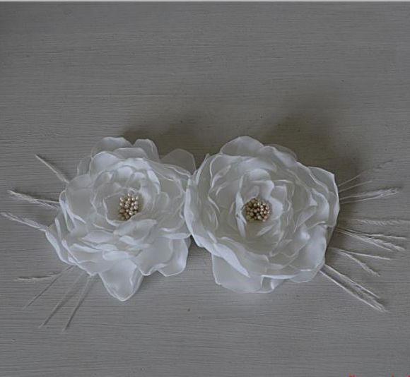Flores  de Seda Brancas Camélias