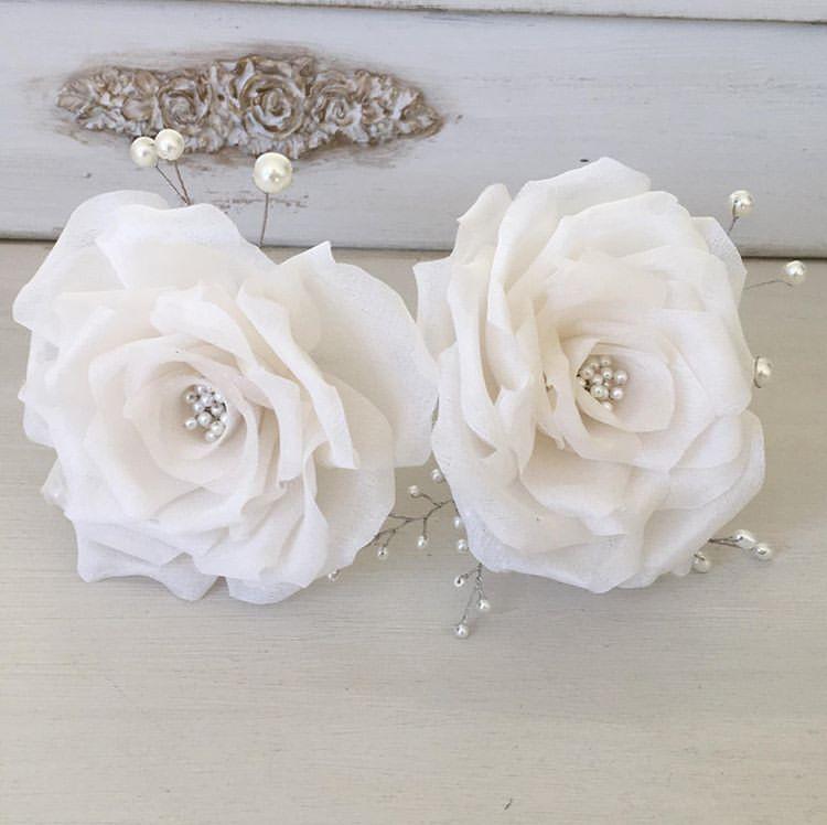 Flores em seda pura personalizadas