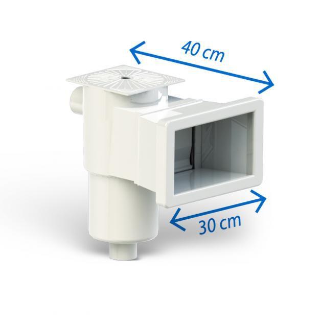 Skimmer reto boca 30cm Fibra/Vinil/Alvenaria - Sibrape CMB